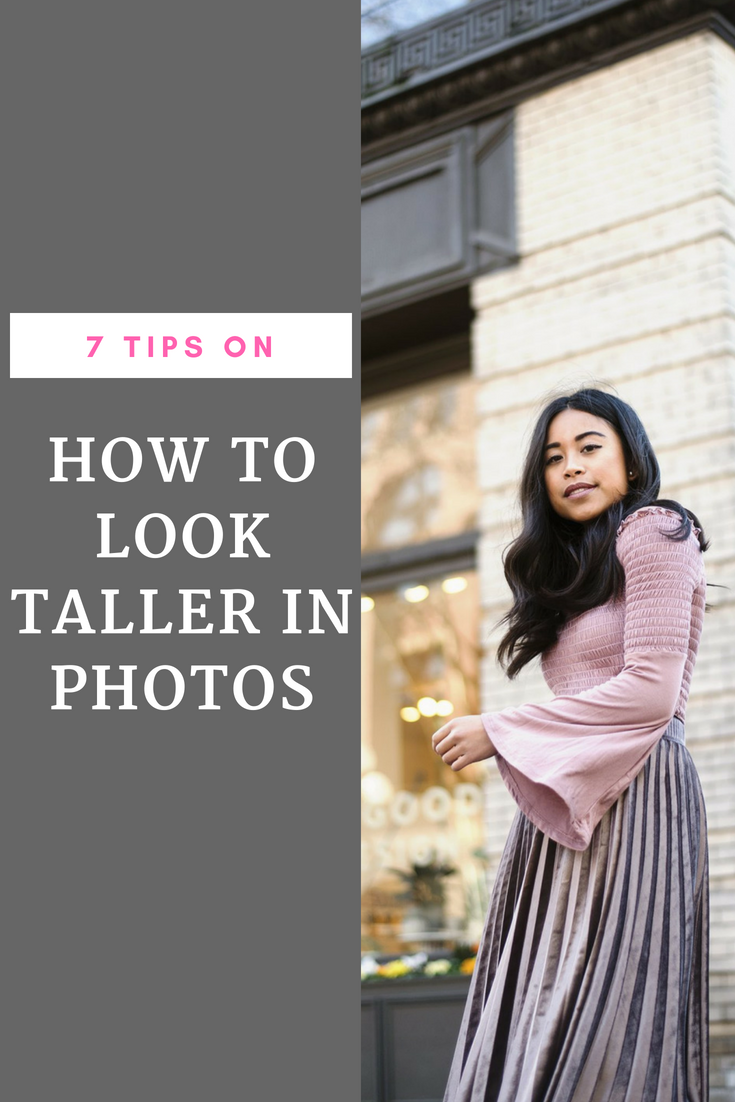 How to look taller in photos – how to look taller in pictures – how to look taller in group photos – tips for improving your Instagram photograph – how to take better Instagram photos – how to take Instagram photos like a pro
