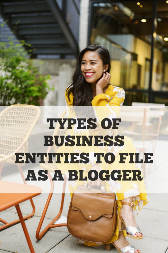 Types of Business Entities to File as a Blogger – what are the different types of business entities – types of business entities – types of business organizations – are blogs considered businesses – when to turn your blog into a formal business – starting a business as a blogger
