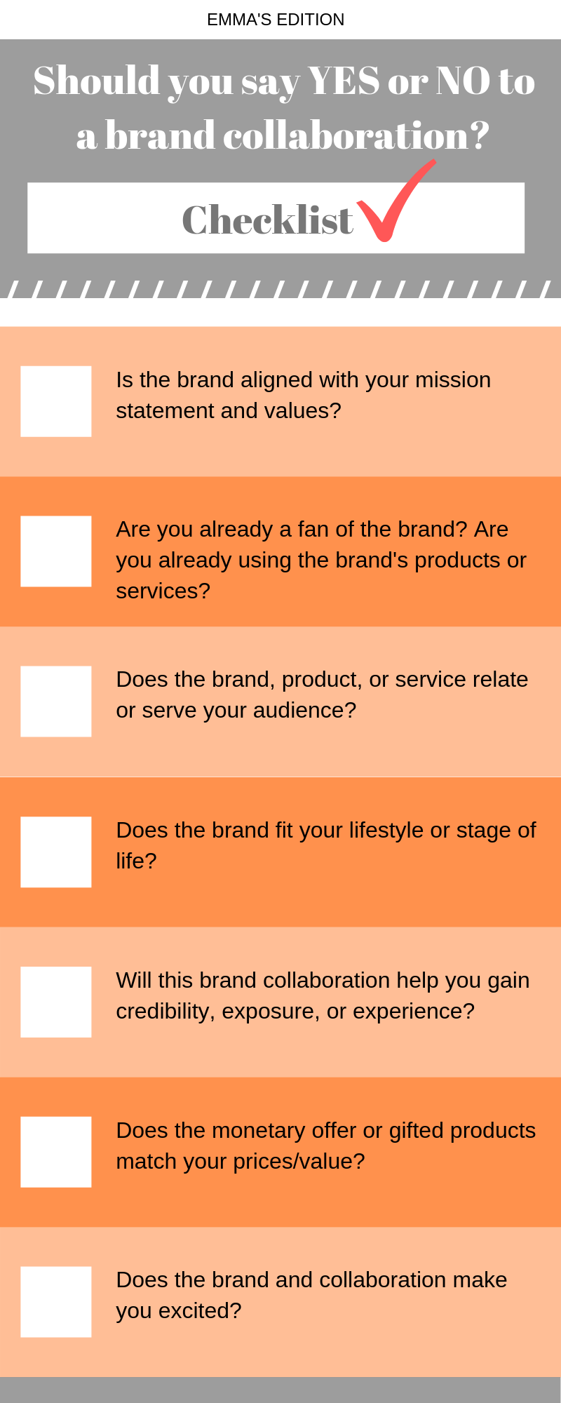 yes or no to a brand collaboration - blogging tips