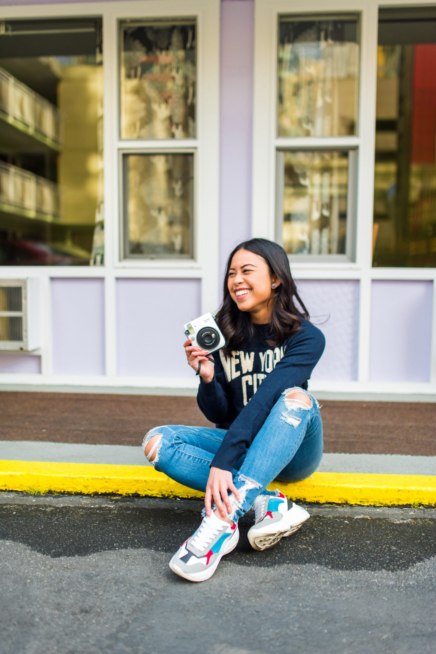Emma's Edition – casual spring outfits – Seattle Blogger – Seattle fashion blogger – Seattle style - polaroid