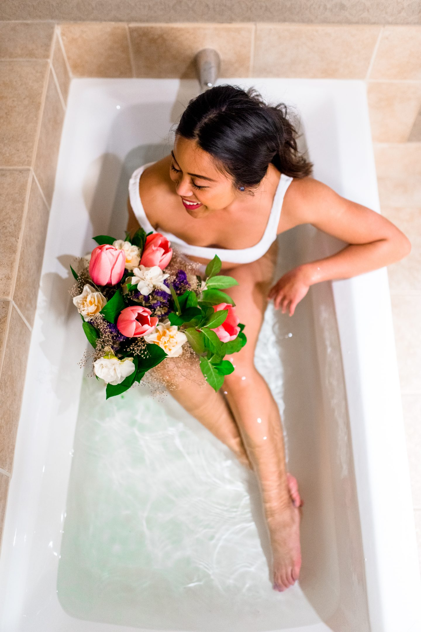 Bathtub floral photos