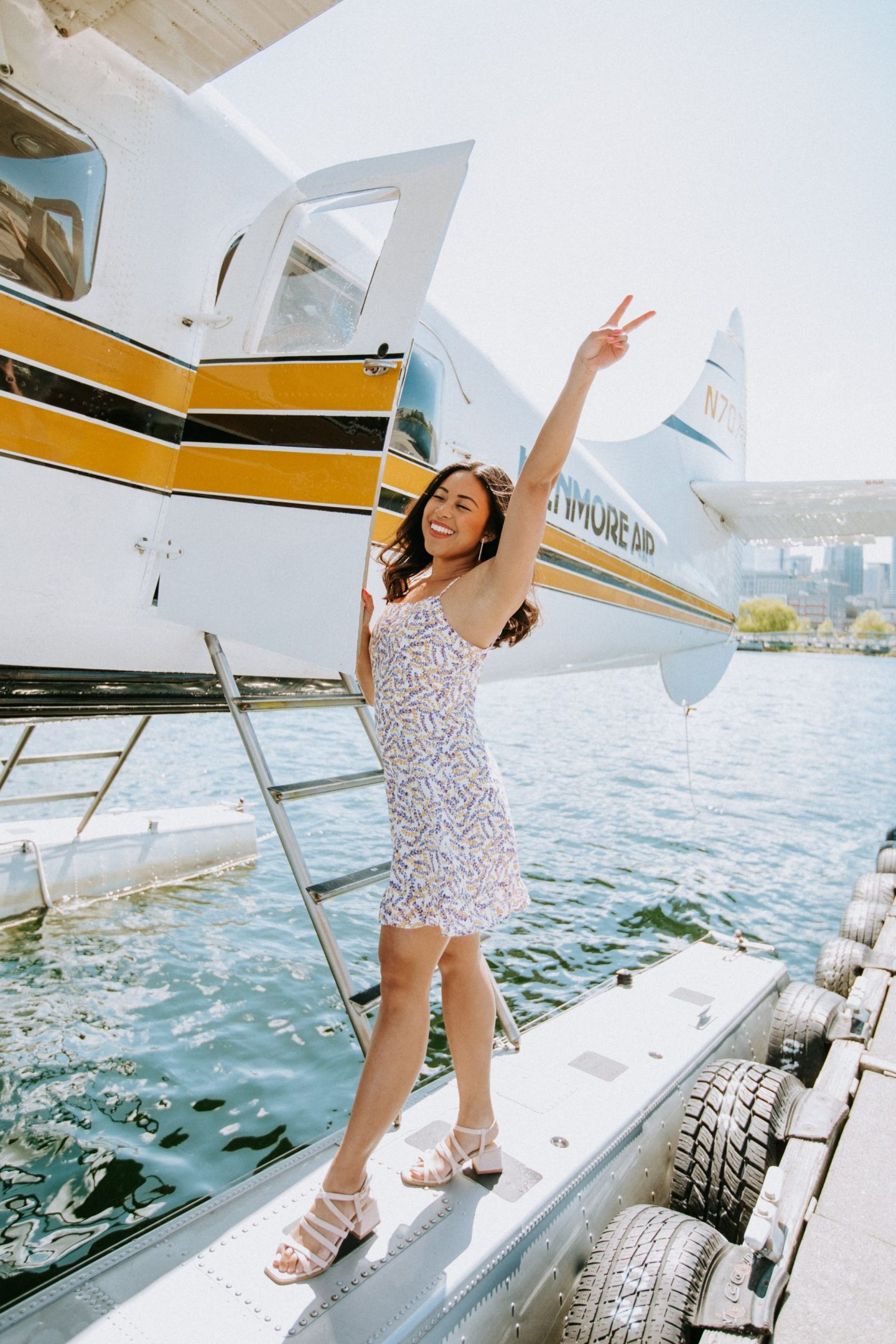 Peace Sign - Lulus Dress - Kenmore Air Seaplane