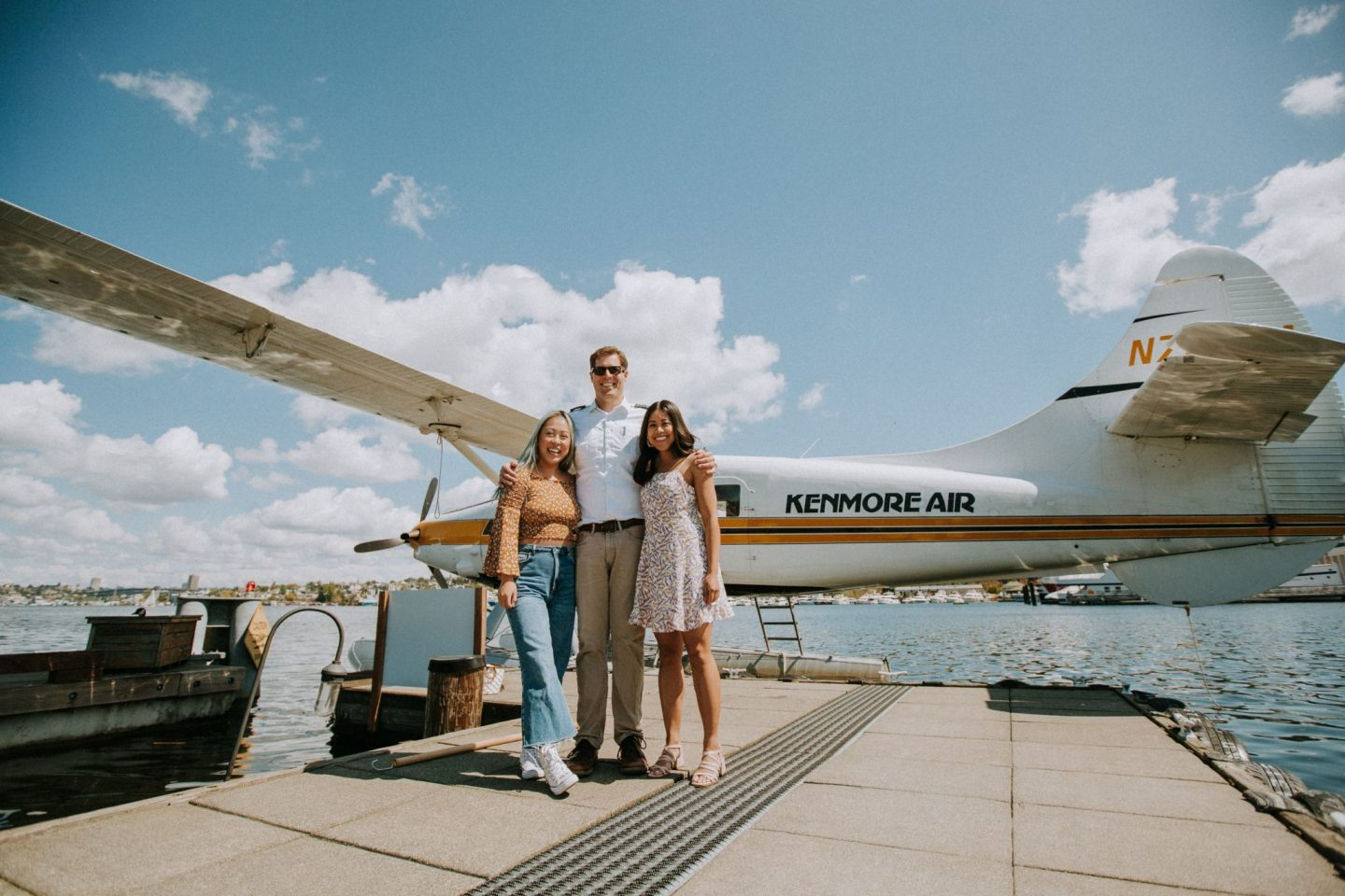 group photo seaplane