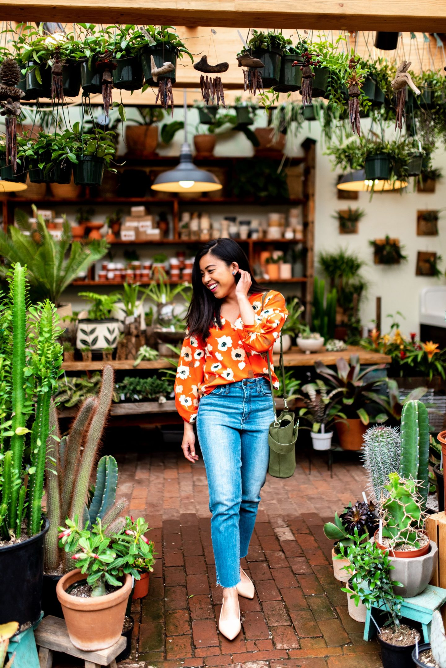 pistils nursery - mom jeans outfits for spring - how to style mom jeans