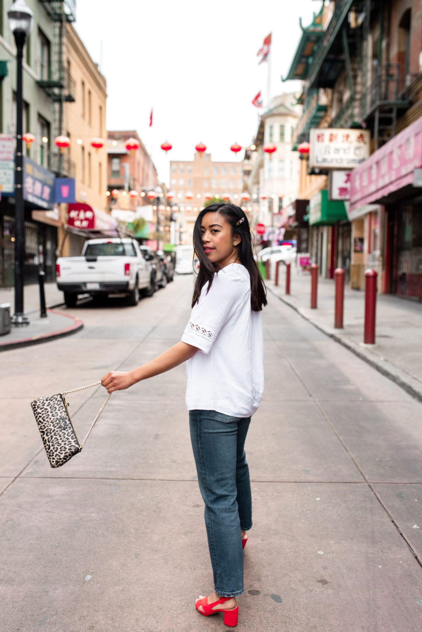 Chinatown San Francisco - Posing in the street - San Francisco's Most Instagrammable Places