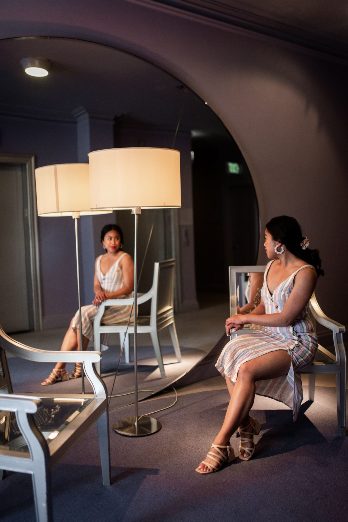 The Clift Royal Sonesta Hotel - giant mirror and chair