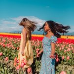 whip your hair back and forth - Lulus Dress – Lulus Ambassador – best friends photoshoot ideas