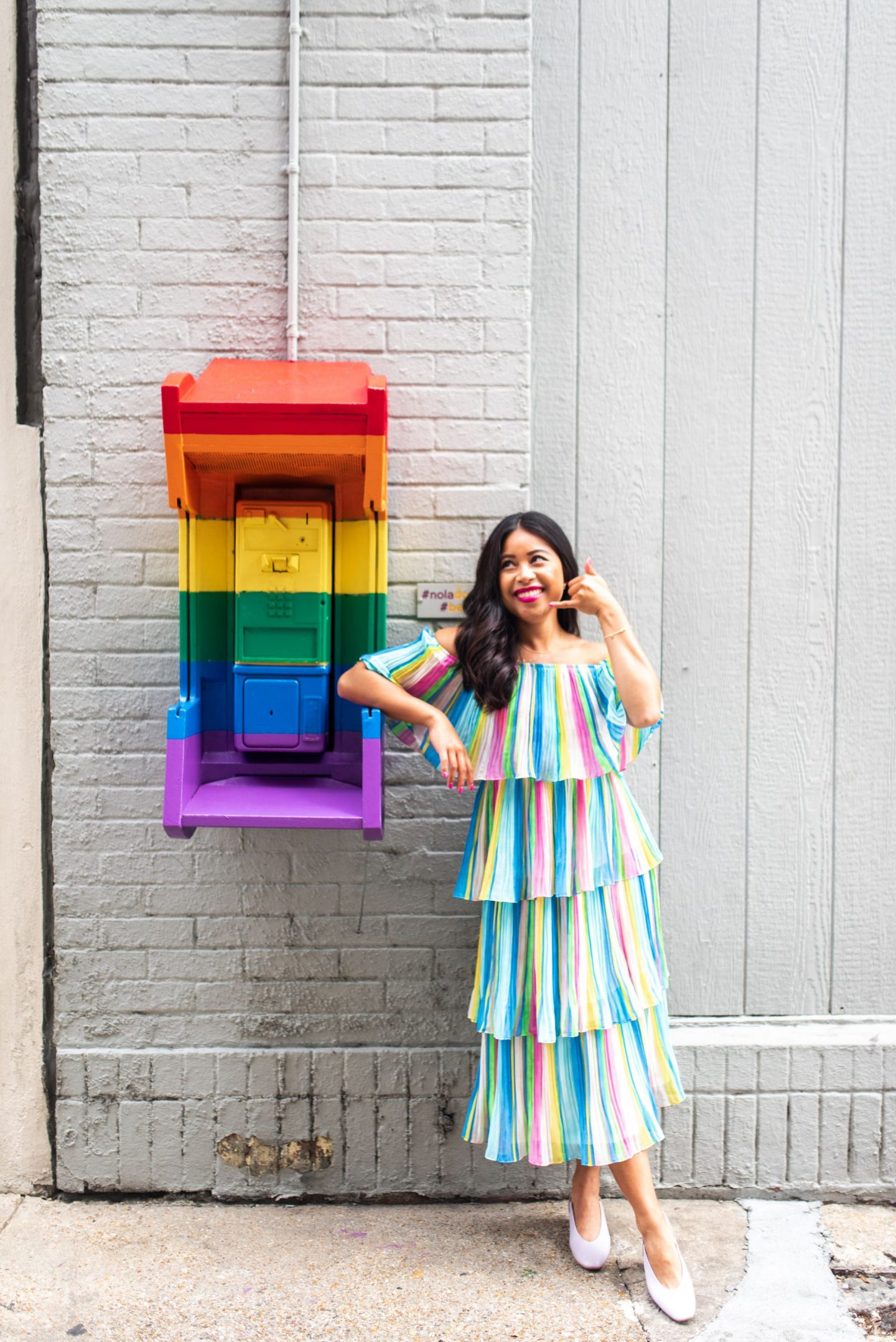 Rainbow Payphone - Downtown New Orleans - Emmas Edition