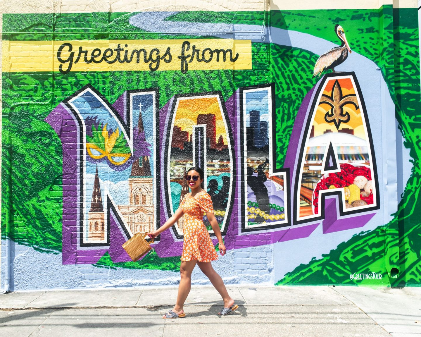 Greetings from NOLA mural - Garden District