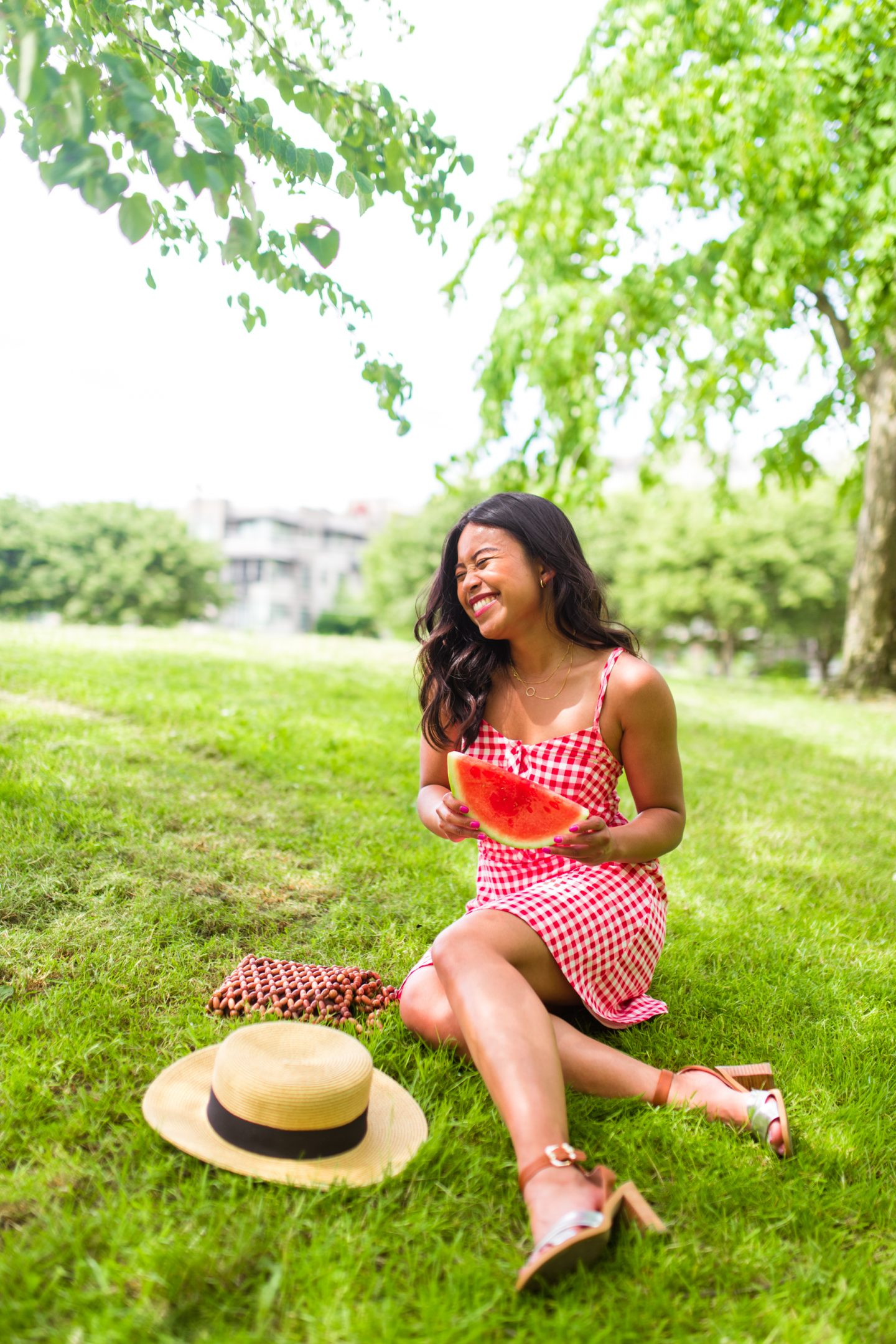 4th of July Outfit Ideas - Red Gingham Dress