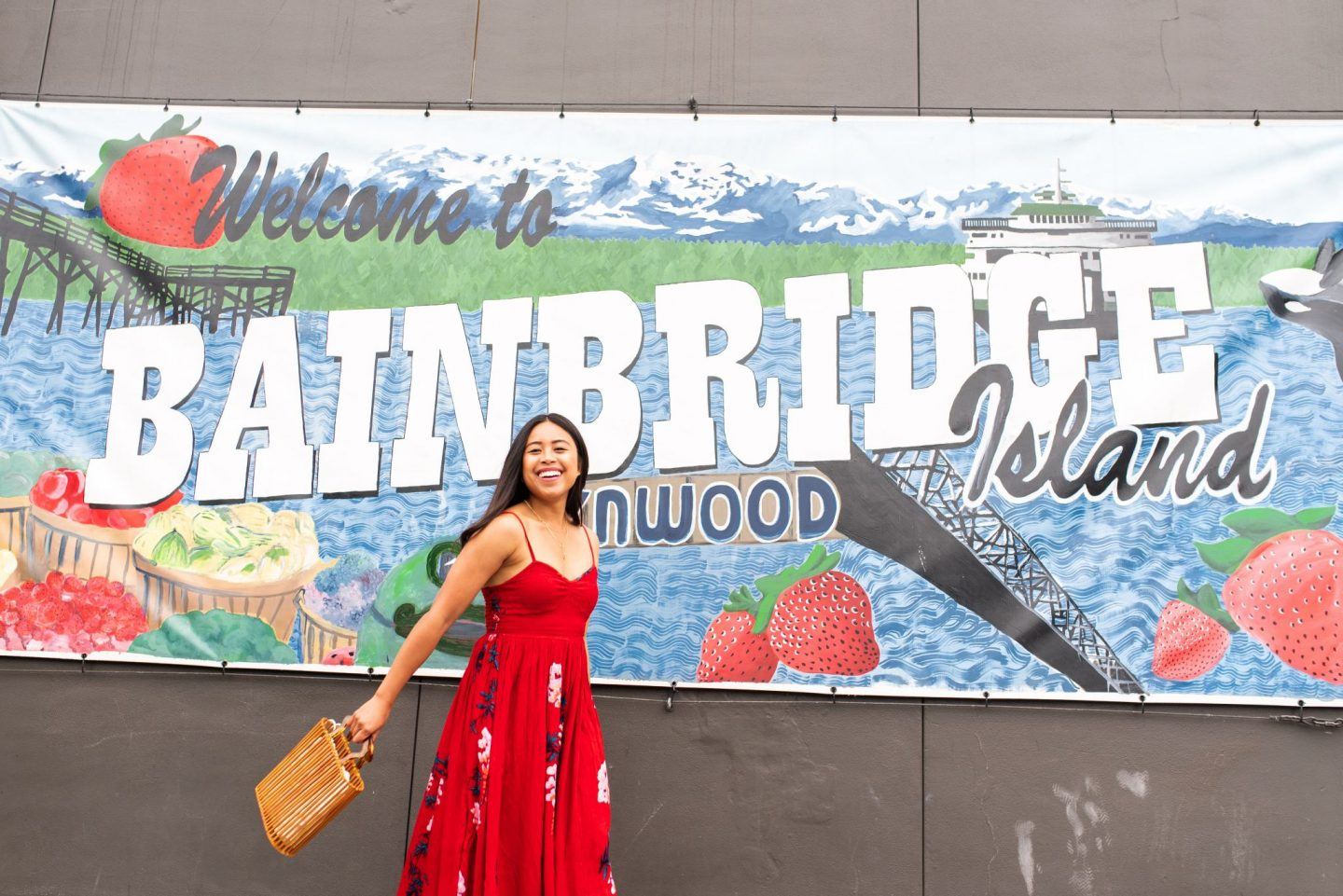 Bainbridge Island Greetings Sign - Emma's Edition – Seattle blogger – Seattle style – Seattle fashion