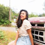 Emma's Edition – Summer outfit – Lulus – Denim Skirt – Gingham Top – Seattle blogger