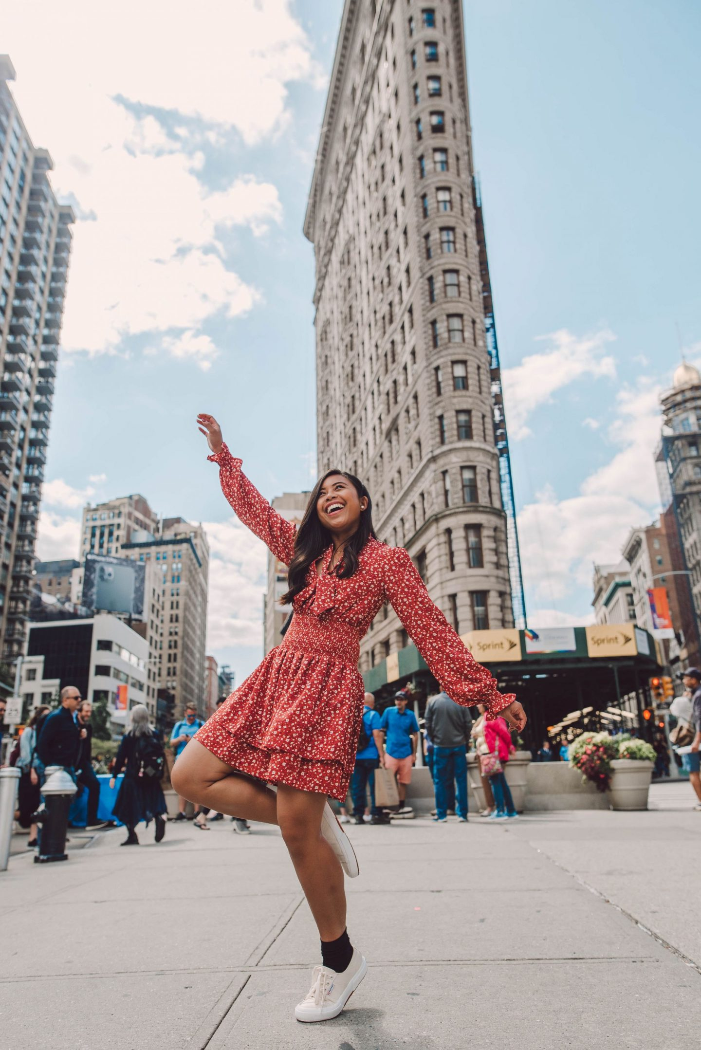 Great Photo at the Flatiron Building in NYC - Emmas Edition