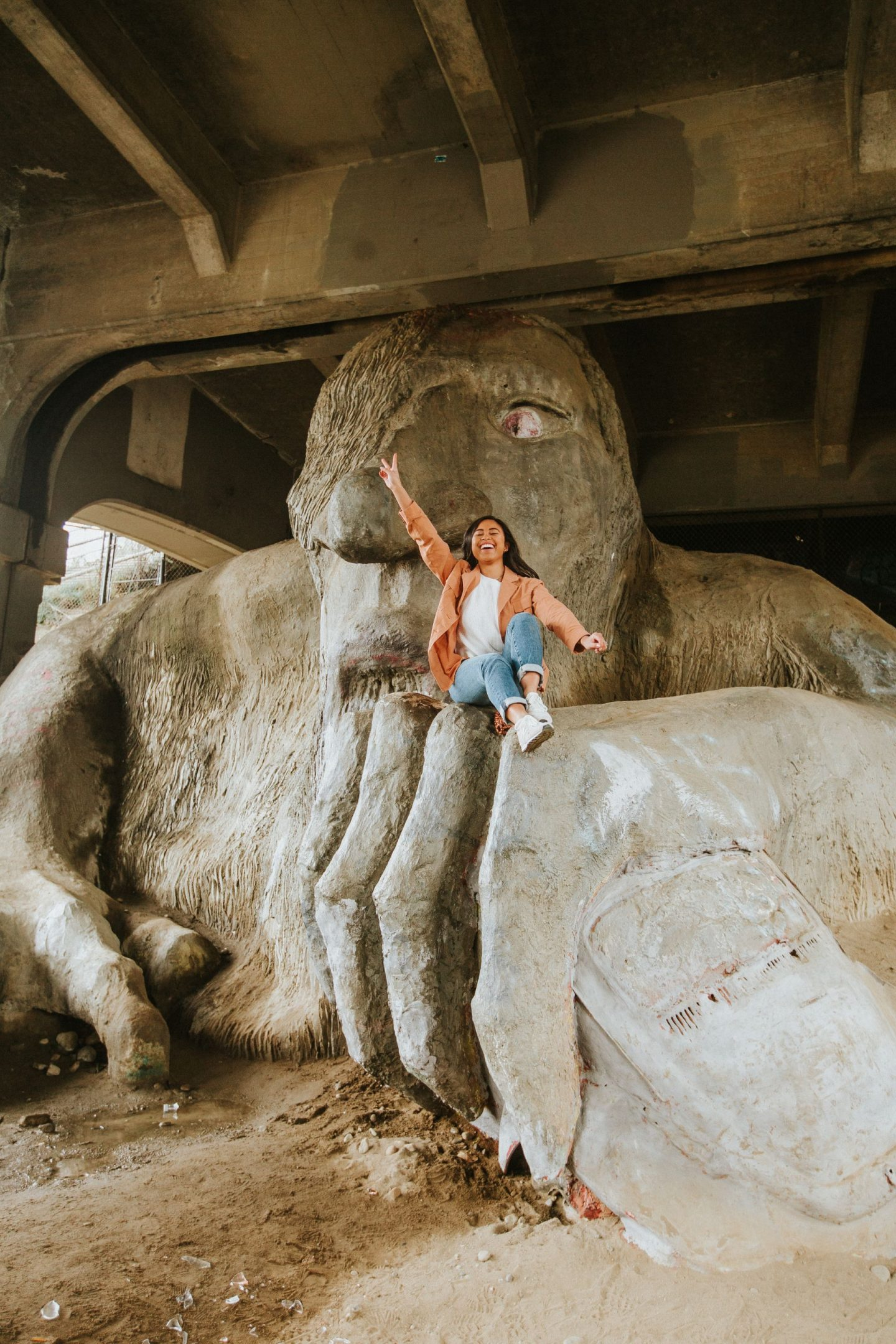 The Fremont Troll - Aurora Bridge