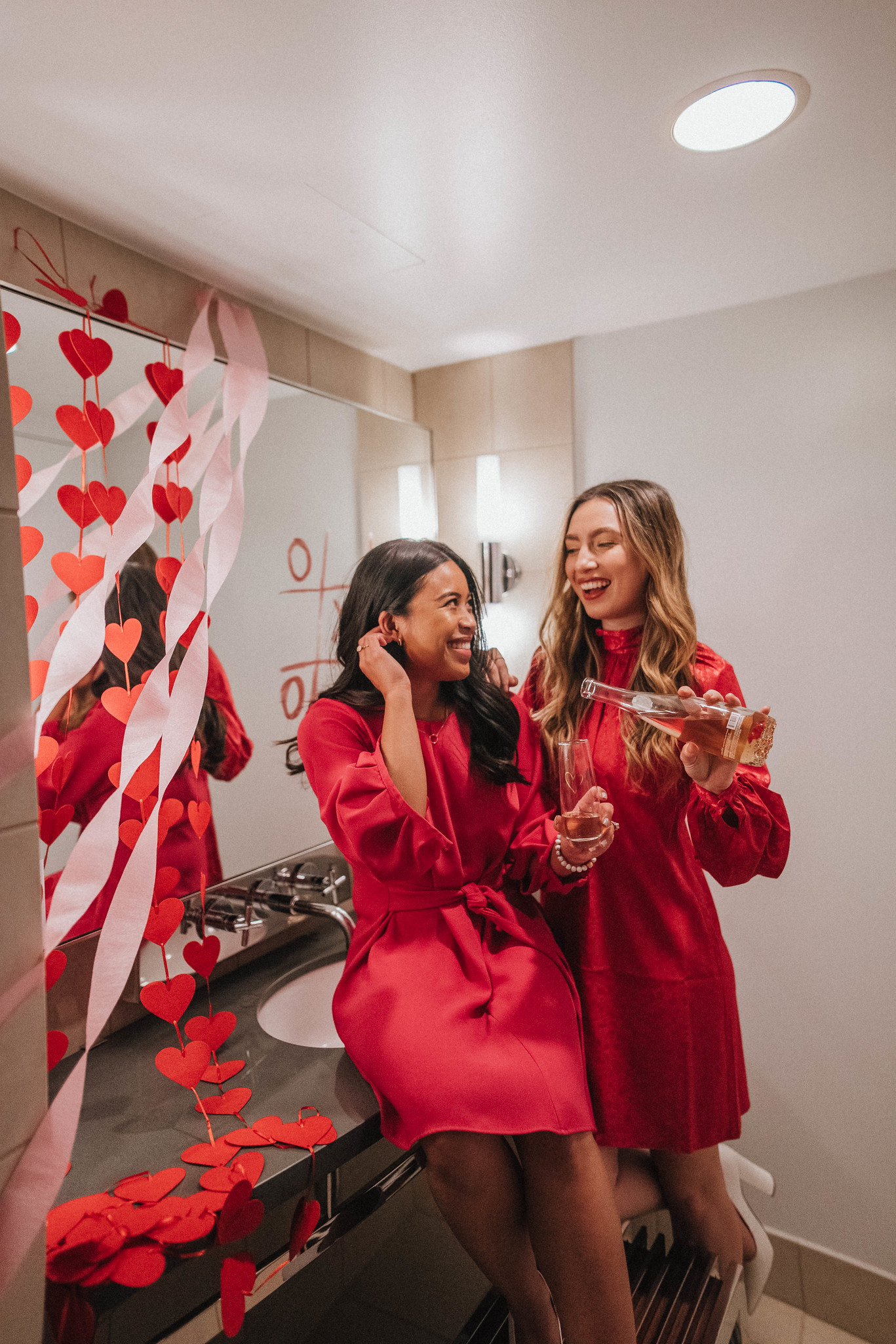 Rose - Valentine's Day posing ideas – Valentine's Day photo shoot ideas – Valentine's Day Inspiration – Galentine's Day Photo Shoot – Valentine's Day photo shoot props – Seattle blogger – Seattle style – Petite blogger – Seattle Washington