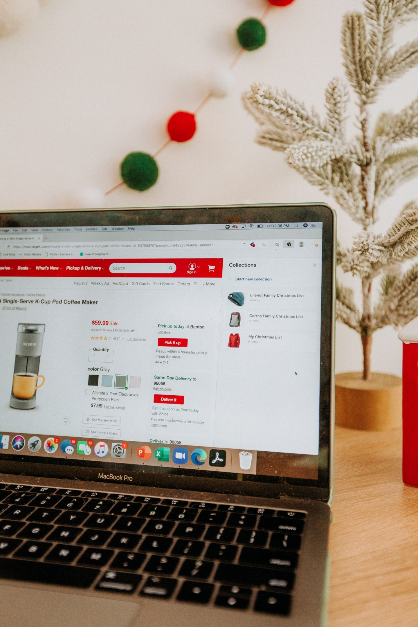 Collections on Microsoft Edge - Online shopping this holiday season – tips for Christmas shopping – online shopping tips for the holidays – how to shop online for the holiday season with Microsoft Edge – image from www.emmasedition.com – copyright @emmasedition