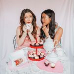 Valentine's Day photos - Galentine's day photo ideas – Galentine's Day poses – Valentine's Day posing – Tea party photo shoot ideas – www.emmasedition.com – image copyright @emmasedition