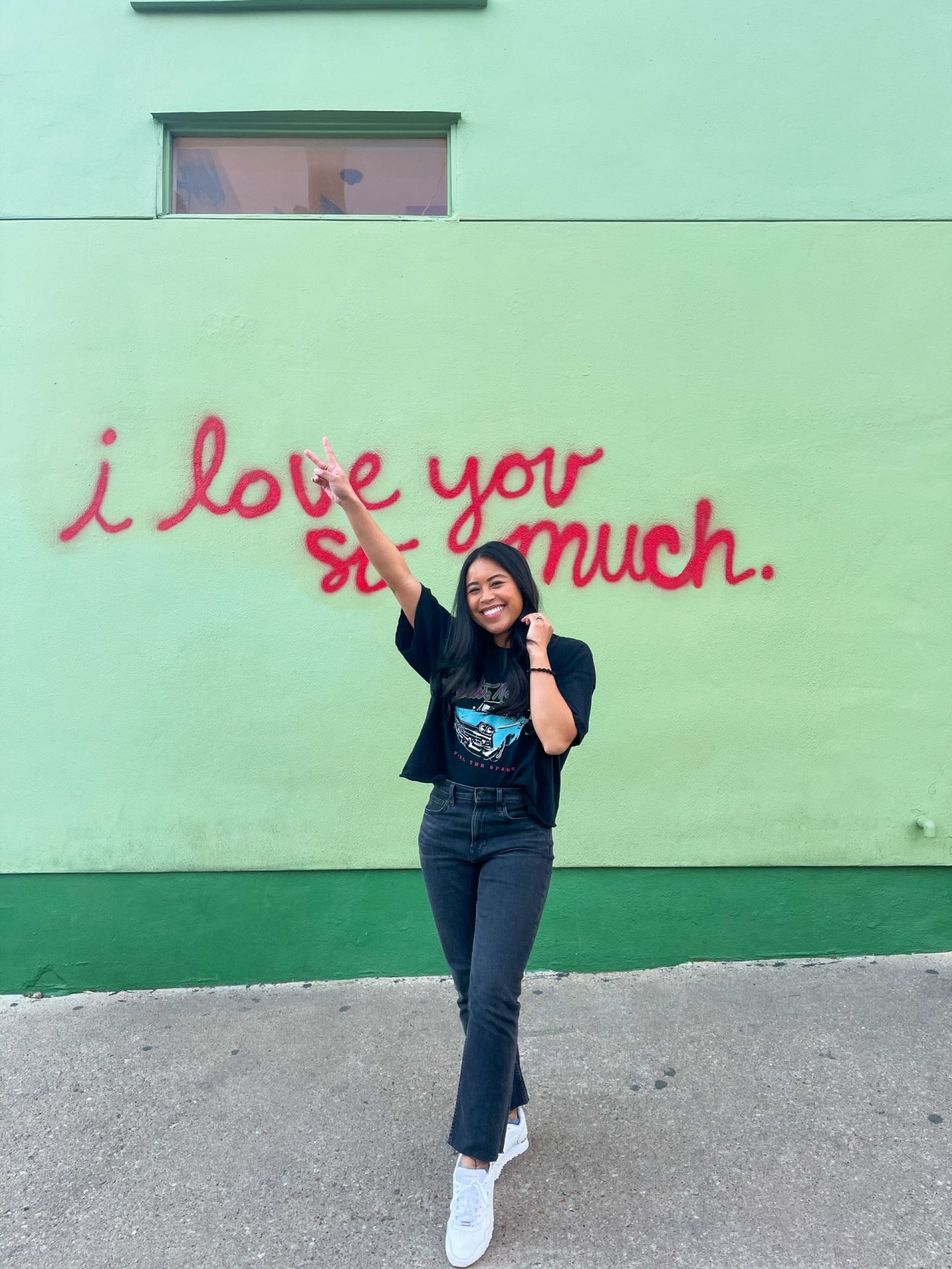 I love you so much mural - South Congress - Austin Texas - most Instagram worthy spots in Austin Texas – best Instagram spots in Austin – places to see in Austin – things to see in Austin – Austin photo spots – places to take graduation pictures in Austin – image from www.emmasedition.com – copyright @emmasedition