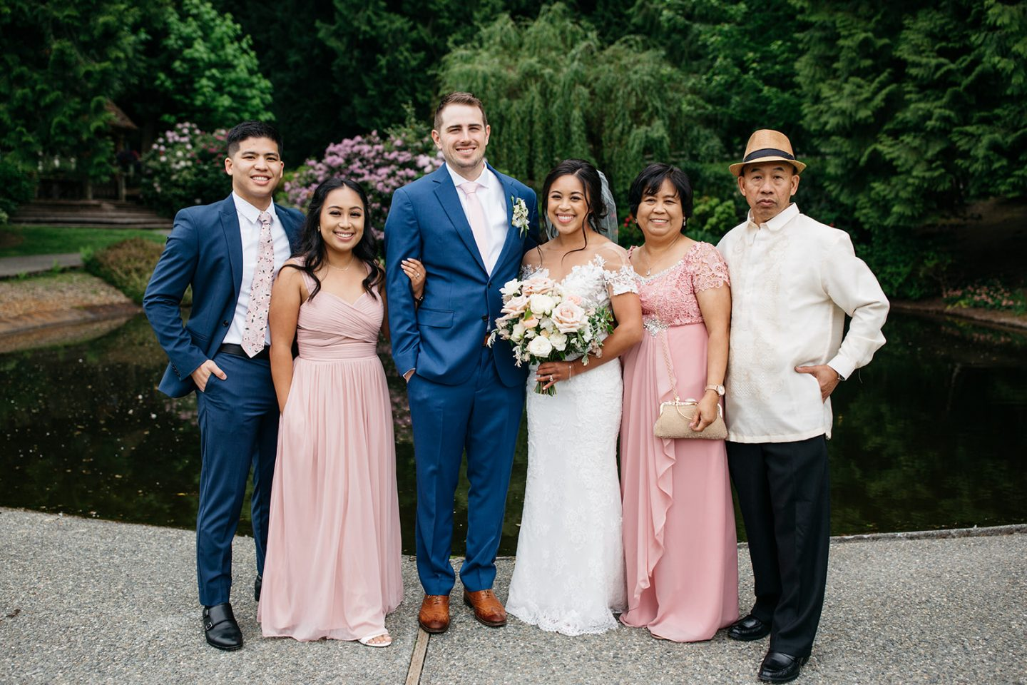 Family Wedding portraits at Chateau Lill in Woodinville WA - spring wedding inspiration - image from www.emmasedition.com