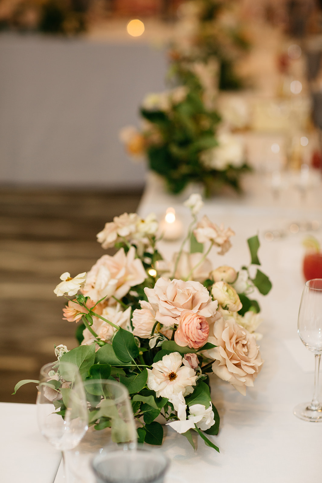 springtime centerpieces by Good Things Floral Co - springtime wedding florals - image from www.emmasedition.com