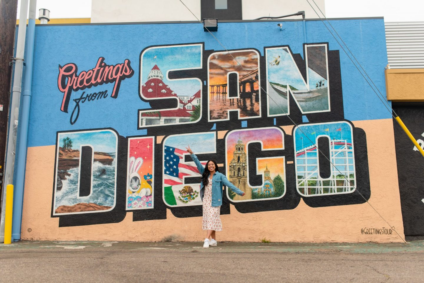 Greetings from San Diego mural - most instagram worthy spots in San Diego - best photo spots in San Diego California - Emma's Edition - www.emmasedition.com