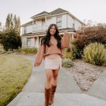 Monochromatic Brown look for fall - western boots - fall outfit ideas for women - Emma's Edition